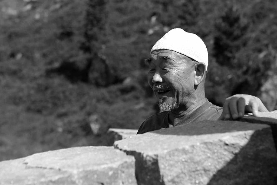 Hidetoshi Nagasawa nel Giardino di Danae RESPIRART foto Eugenio Del Pero bn
