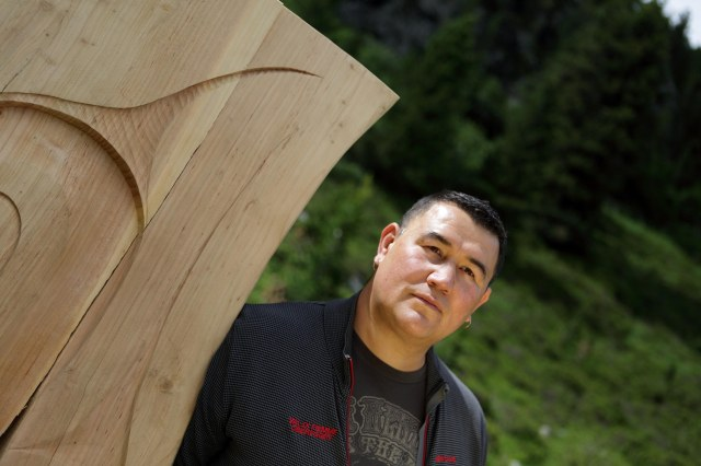 L'artista indiano del Canada Gordon Dick a RESPIRART foto Eugenio Del Pero p