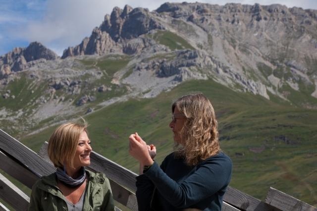 Maria Concetta Mattei e la scrittrice d'arte Sue Spaid