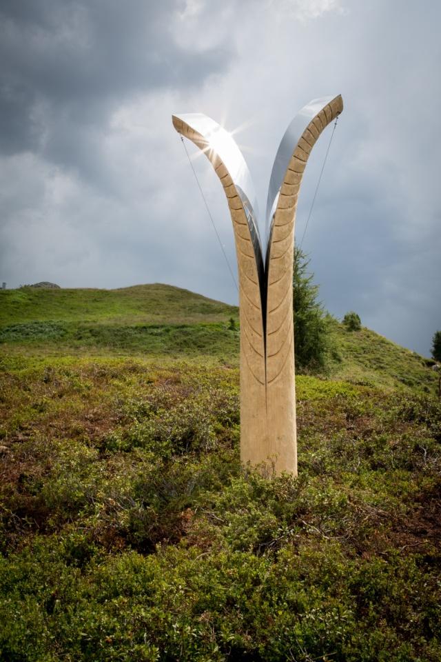 Ouverture di Aldo Pallaro nel Parco d'Arte RespirArt - Latemar - Pampeago - Val di Fiemme - Trentino PH Eugenio Del Pero