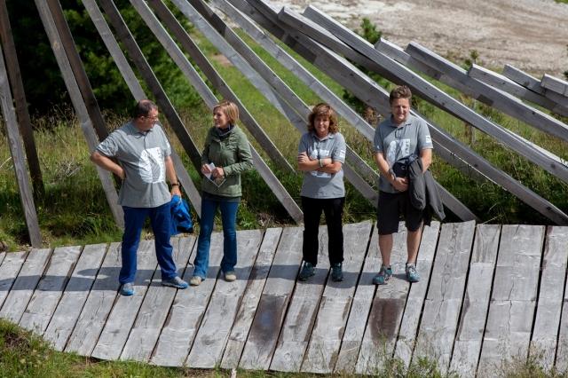 Piero De Godenz, Maria Concetta Mattei, Beatrice Calamari, Marco Nones RESPIRART DAY 2015 Pampeago ph Eugenio Del Pero