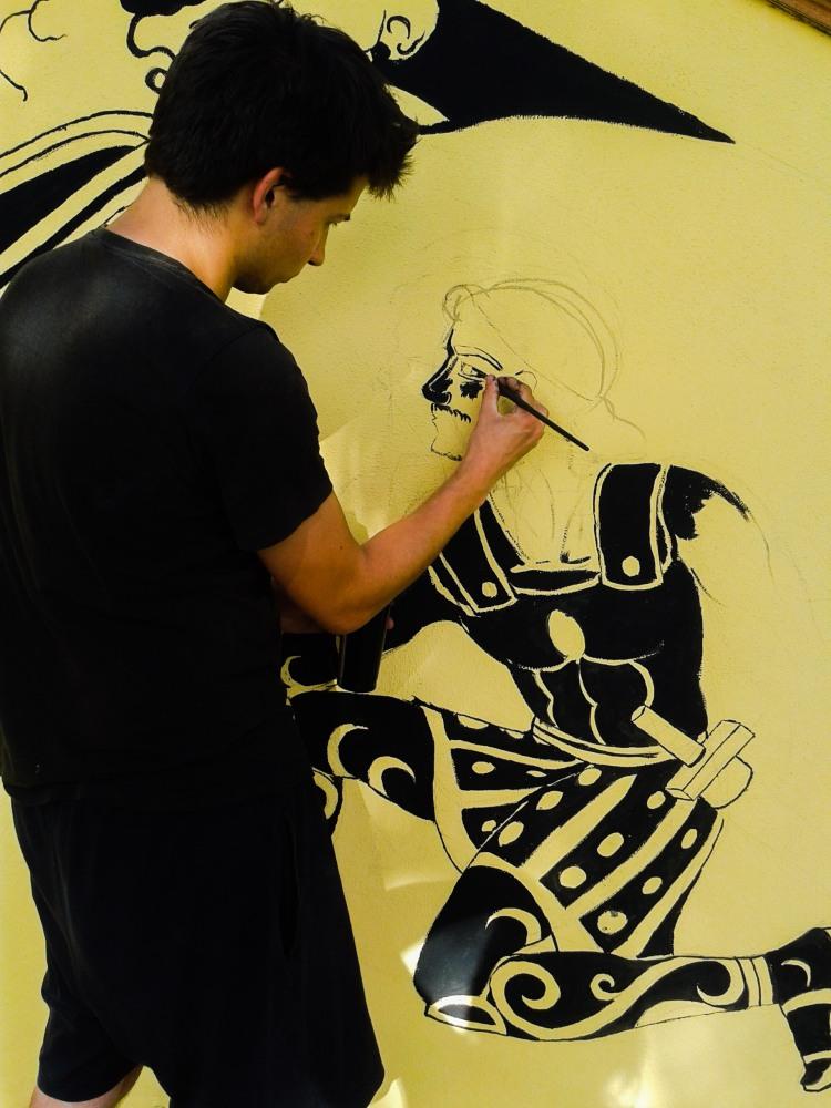 Jacopo Bellante street artist respiart DUNE BLU RESORT