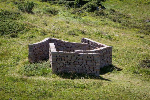 Il Giardino di Danae Installazione di Hidetoshi Nagasawa Parco d'arte RespirArt ph Eugenio Del Pero