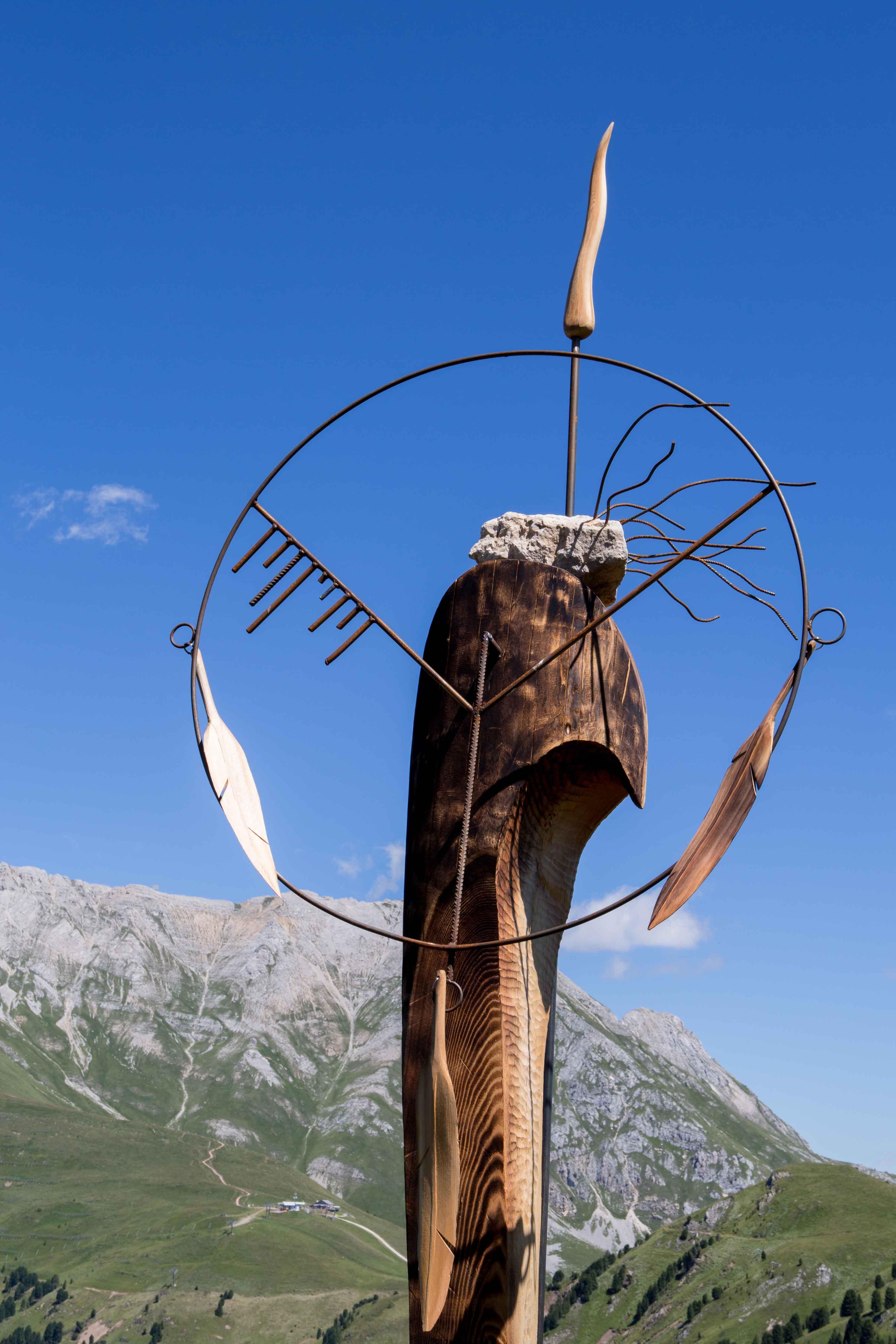 Guerriero di Pace delle Dolomiti di Torsten Schùtt RESPIRART 2016 foto eugenio Del Pero 2